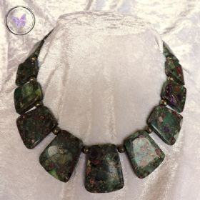 Fluorite & Pyrite Necklace